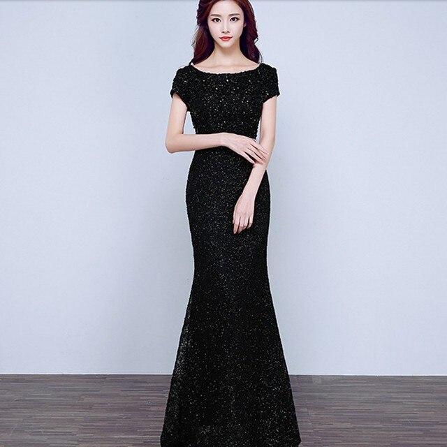 Vestidos de fiesta negro y gris