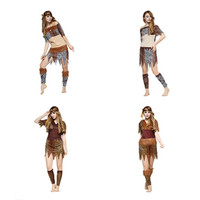 Ladies Women Native American Indian Wild West Fancy Dress Party Costume Indian Costume Indigenous Primitive Performance