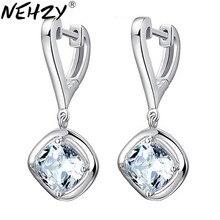 Nehzy Zilveren Oorbellen Crystal Sieraden Lady Lange Sectie Van Hoge-Kwaliteit Mode Sieraden Fabrikanten, Groothandel