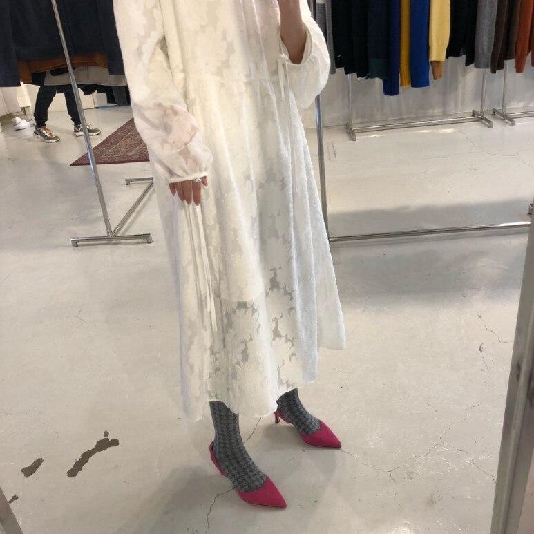 Filles Noir Style Floral Robes De Whitney Mode Robe blanc Coréenne Lace 2019 Printemps Streetwear Wang Femmes ZkXuOPi