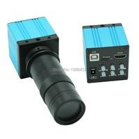 16MP HD HDMI USB Industrial Digital Microscope Camera TF Card Storage Support Photo Recording Video+8X 130X Optical C Mount Lens
