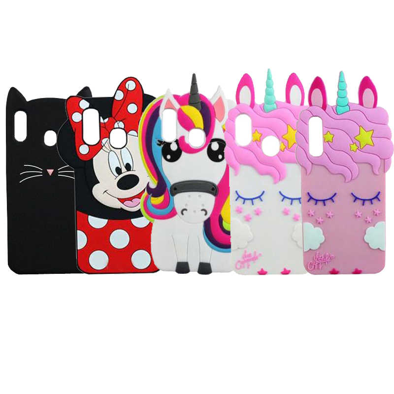 Case Cover For Samsung A50 A40 A30 A20 A10 A60 A70 Cartoon Unicorn Cat Minnie Silicone Phone Case For Samsung M30 M20 M10 Funda
