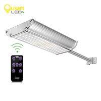 70 Led Street Light Solar Power Lamp With Remote Controller 5 Modes Motion Sensor Aluminum Alloy Waterproof For Garden Lighting