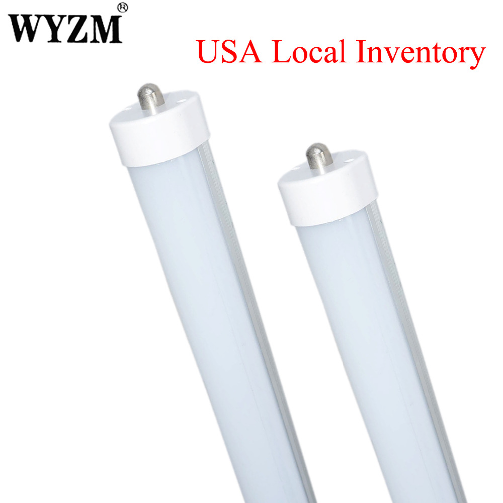 USA Local Shipping, 4 Pack Led Tube Light 8ft T8 LED Fluorescent Tube Replacement 45W Double End Power Frosted Cover t8 led tube 1200mm light 18w120cm 4ft 1 2m g13 with holder fixture high power smd2835 fluorescent replacement 85 265v