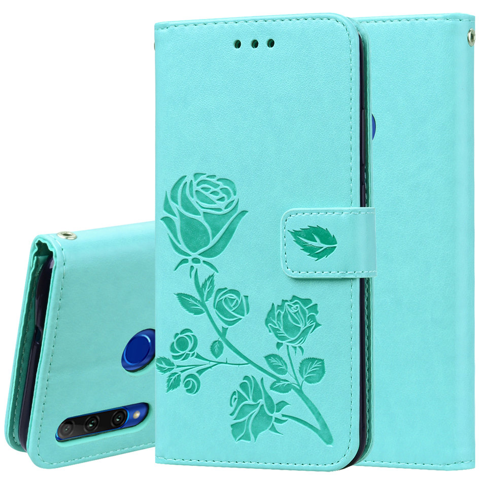 Luxury Rose Flower Case For Huawei P20 Lite Mate 20 Pro P Smart Z Y5 Y6 Y7 Prime 2018 Y9 2019 Single Color Wallet Cover DP17E in Flip Cases from Cellphones Telecommunications