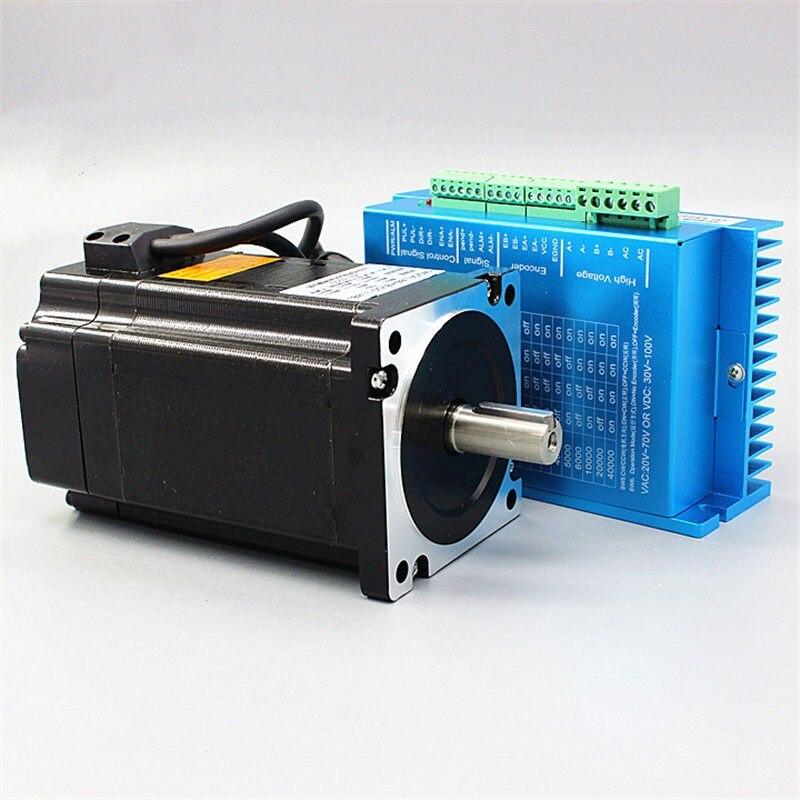 3 juegos de servomotor Nema 34 86HB250-118B + HB860H motor de paso de bucle cerrado 8.5N.m 86 Circuito Cerrado híbrido 2 -controlador de motor paso a paso