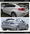 Подходит для BMW X6 E71 модифицированное углеродное волокно заднее крыло спойлер