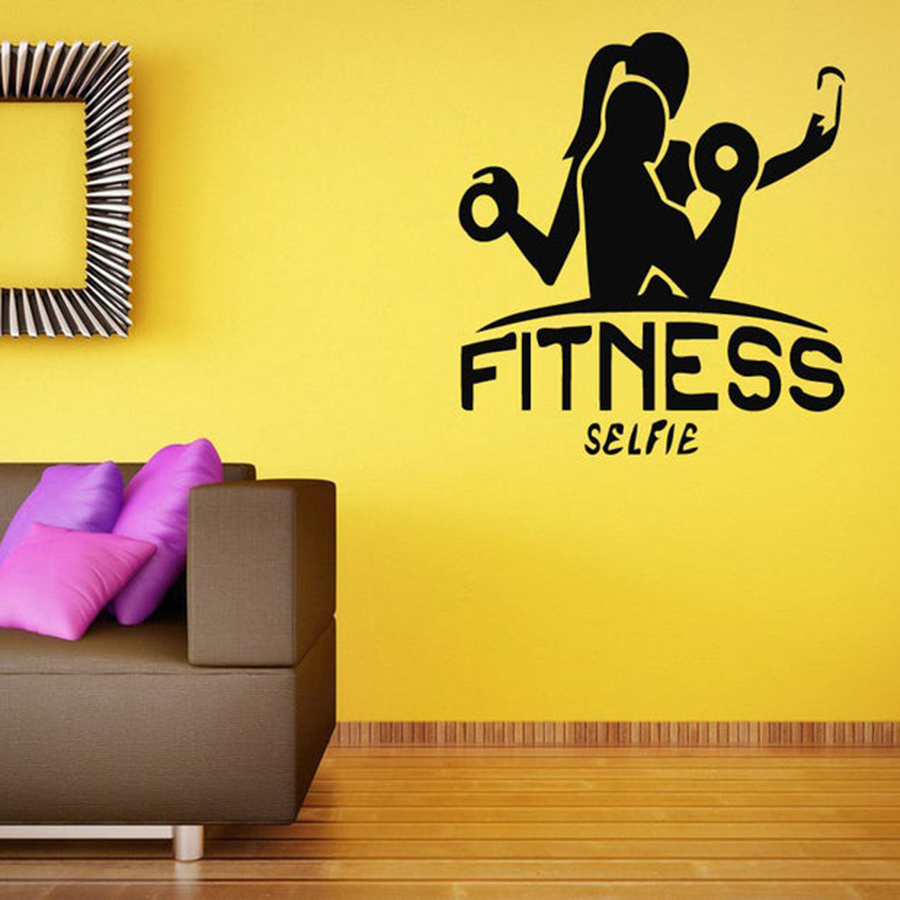 Fitness Man Vinyl Wall Decal Workout Gym Wall Sticker Home Decor Man Cave Mural