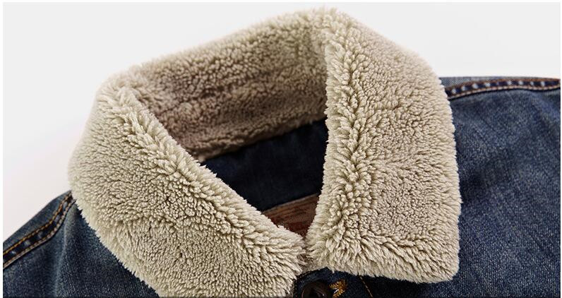 Men Jacket and Xoats Brand Clothing Denim Jacket Fashion Men's jeans jacket Thick Warm Winter Outwear Male Cowboy Size:M-4XL