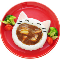 Cute Big Mouth Cat Rice Ball Mold Decor Cutter Cartoon Shape DIY Rice Mold Rice Bowl Baby Eating Home Kitchen Sushi Tool
