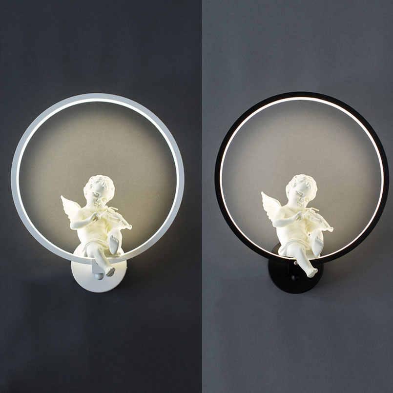 Европейский ангел птица светодиодный настенный светильник Современный лестничный пролет светодиодные фонари фон кафе прикроватная Спальня Гостиная настенный светильник бюстгальтер
