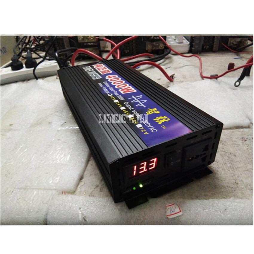 цена на Zx-4000W Pure Sine Wave Car Power Inverter 4000W 12V/24V/48V/60V To 220V Car Converter Inverters For Solar Boat Home Appliances