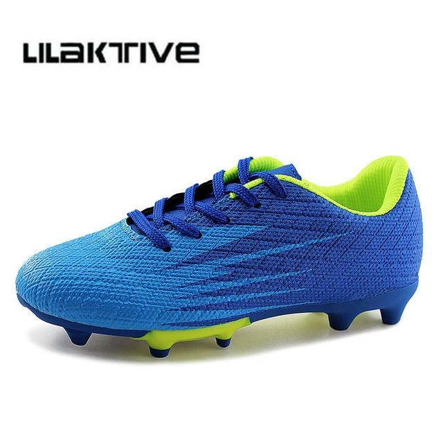 Meninos profissionais chuteiras pico sapatas dos miúdos sapatos Meninos  tênis athletic shoes futebol chuteiras de futebol 298ffa260c0a1