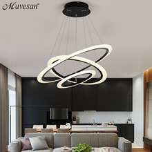 Modern LED hanging lights Lamp For Living Room Lustre Pendant Lights with 30cm/50cm/70cm single rings for dinning room