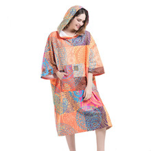 все цены на Bosemia Printing Changing Robe Bath Towel Fashion Outdoor Adult Hooded Beach Towel Poncho Movemen Women Man Bathrobe Towels LST