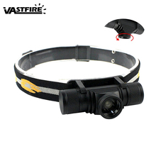 VastFire 1000 Lm USB Rechargeable 18650 Head Torch Zoomable XM-L2 LED 4 Modes Headlamp Hunting Biking Headlight