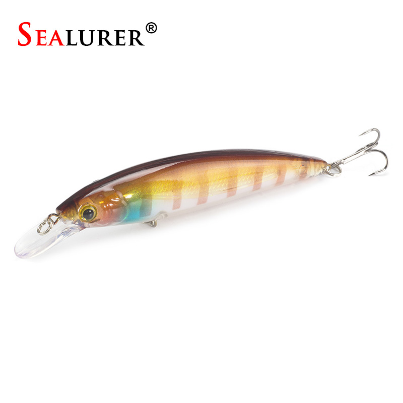 1PCS/LOT  Fishing Lure Minnow Lures Hard Bait Pesca 11CM/13.5G Fishing Tackle isca artificial Quality Hook Swimbait tsurinoya fishing lure minnow hard bait swimbait mini fish lures crankbait fishing tackle with 2 hook 42mm 3d eyes 10 colors set