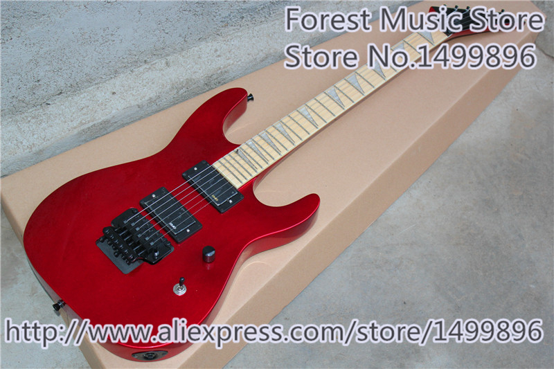 China Custom Shop Metalic Red Finish Jackson DK-1 Electric Guitar With Maple Fretboard Free Shipping 3ts with pickups custom shop acoustic guitar free shipping custom made it direct manufacturer beautiful and wonderful j 200