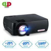 Powerful Mini Projector X5 Led Beamer Full HD video Portable Home Cinema Pocket TV Theater Video Projecteur 3D Mini Projector