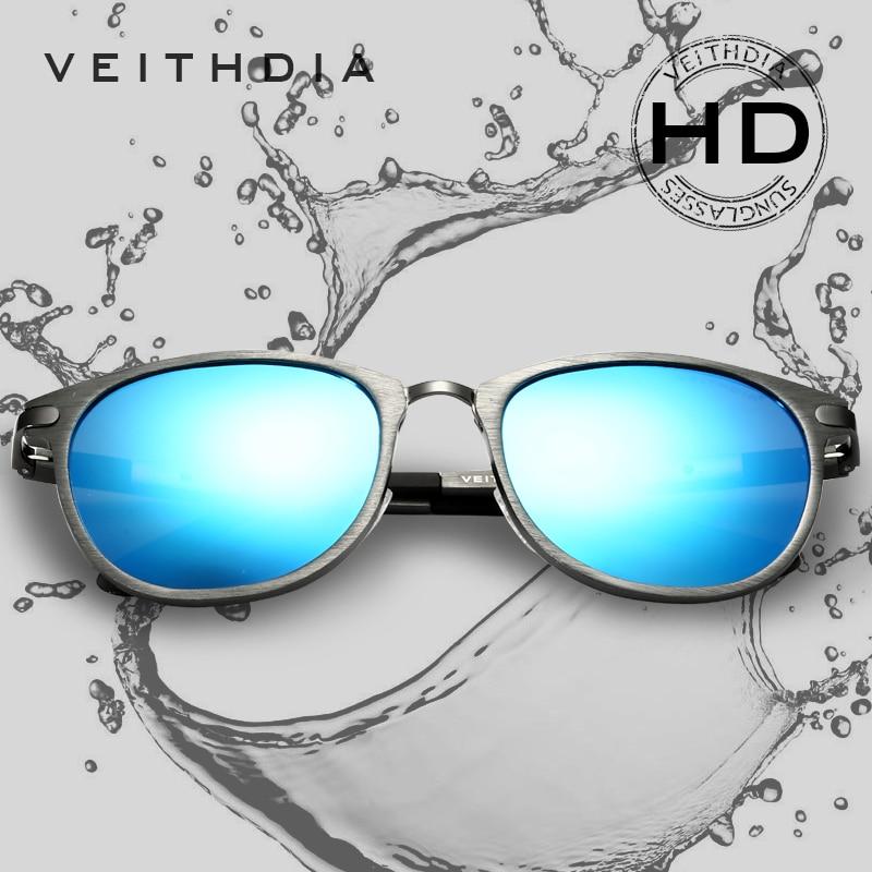 VEITHDIA Unisex Retro alumīnija magnija saulesbrilles Polarizēta lēca Vintage Eyewear aksesuāri Saulesbrilles Oculos de sol 6680