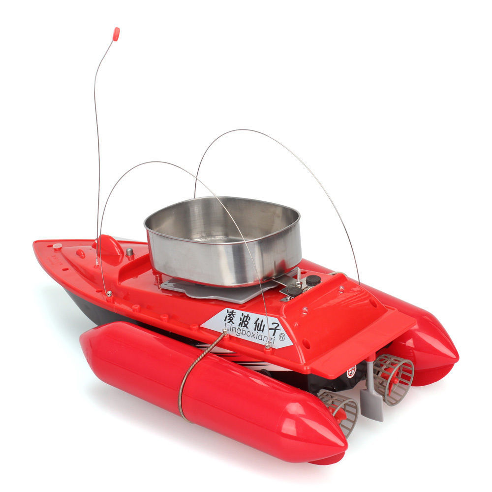цена Newest Updated T10 Mini Fishing Bait Boat Fish Finder 300M Remote Control RC Bait Boat Carp Anti Grass Wind 1200G