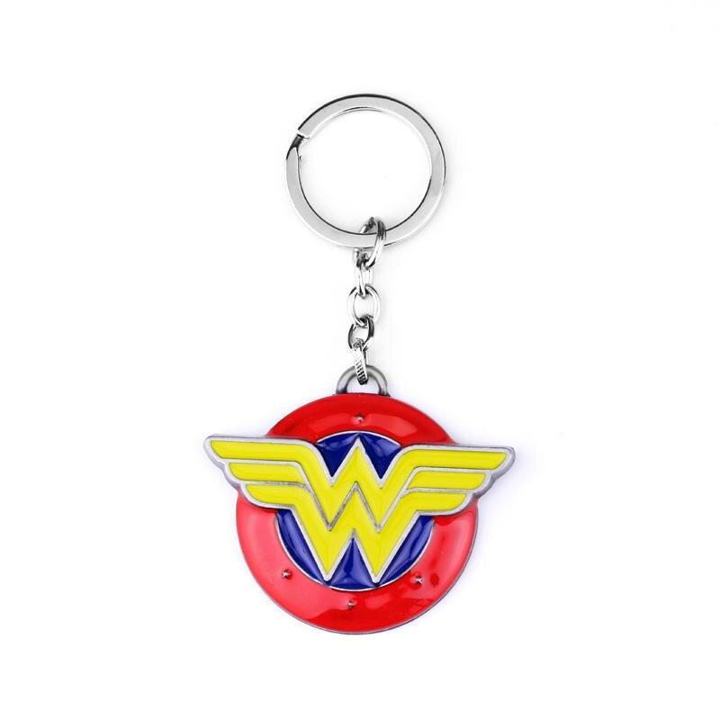 Diana Logo Metal Colorful Keychain Halloween Cosplay Accessory Halloween Superhero Christmas Birthday Gift