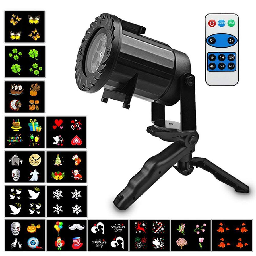 15 Patterns Projector Lights Led Christmas Stage Light Halloween Waterproof Garden Sparkling Landscape Laser Projector Lamps недорого
