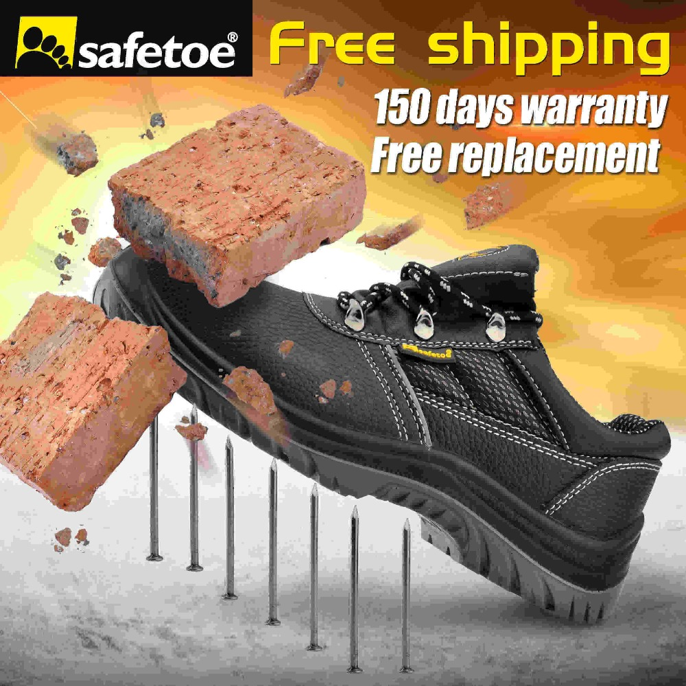 Big Size Men Ankle Boots High Quality Genuine Leather Men Work font b Safety b font