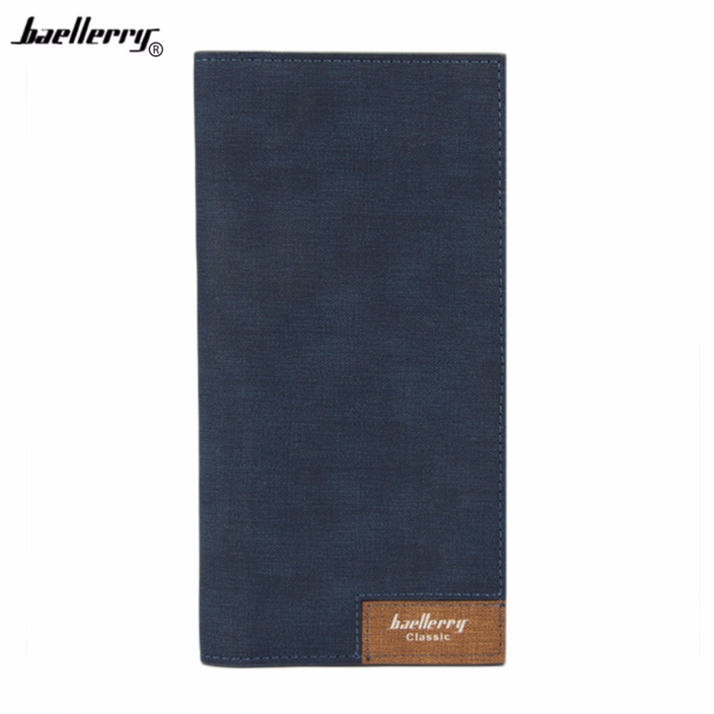 Baellerry 2018 Business Men Long Wallet Purse Thin Male High Capacity Leather Wallet Men For Holder Credit Card Money Clutch Bag bvp business dress wallet long type men high end daily pack money credit card organizer 100% genuine cowhide leather j40