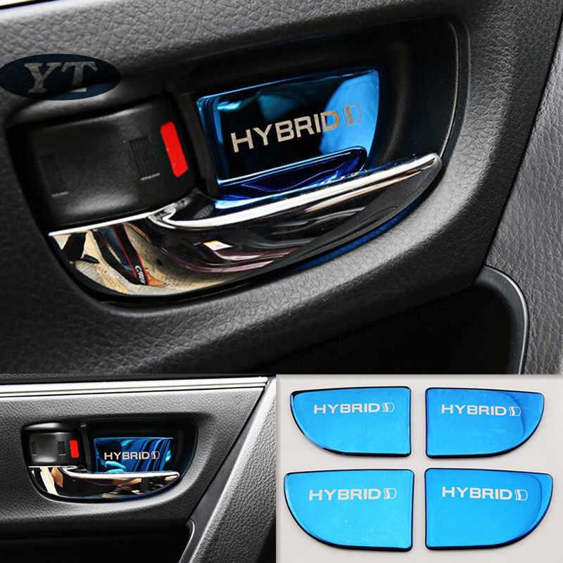 Pintu Dalam Mangkuk Stiker Interior Moulding untuk Toyota Corolla Auris 2014-2018, 4 Buah/Banyak, Aksesoris Mobil