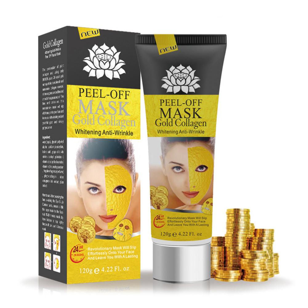 24K Gold Collagen Face Mask Anti Aging Remove Wrinkle Skin Care Cosmetics Cleaning Blackhead Acne Mask Moisturizing TSLM2