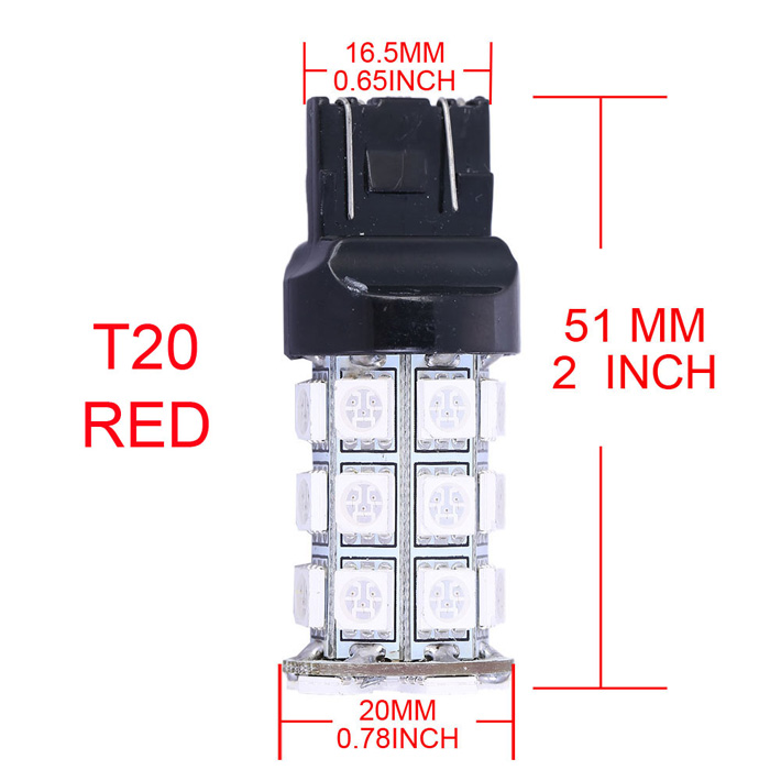4бр / лот T20 WY21W SMD5050 LED спирачка за - Автомобилни светлини - Снимка 2