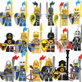 8Pcs Gladiatus Mini Dolls Medieval Knights Rome Fighters Hero of Sparta Female Warrior Building Blocks Kids Toys