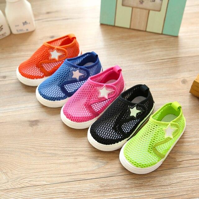 2017 лето детская обувь пляжная обувь чистая мальчик девочка малыш ребенок 1-3 лет малыша обувь