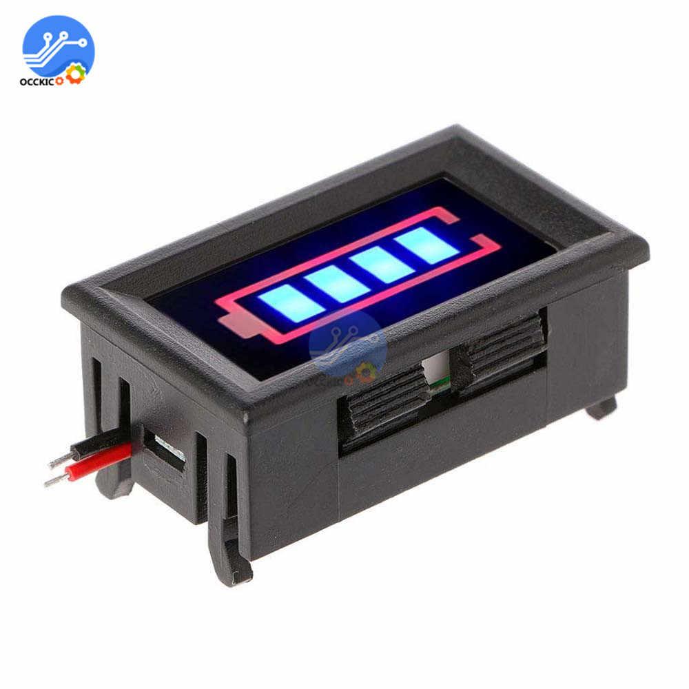 Pantalla indicadora de capacidad de la batería de litio BMS 3S 18650 con funda protectora 12,6 V cargador de batería de prueba accesorio