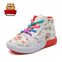 Kids Shoes For Girl Children Canvas Shoes Boys Sneakers 2018 Spring Autumn Kids Shoes Floral High