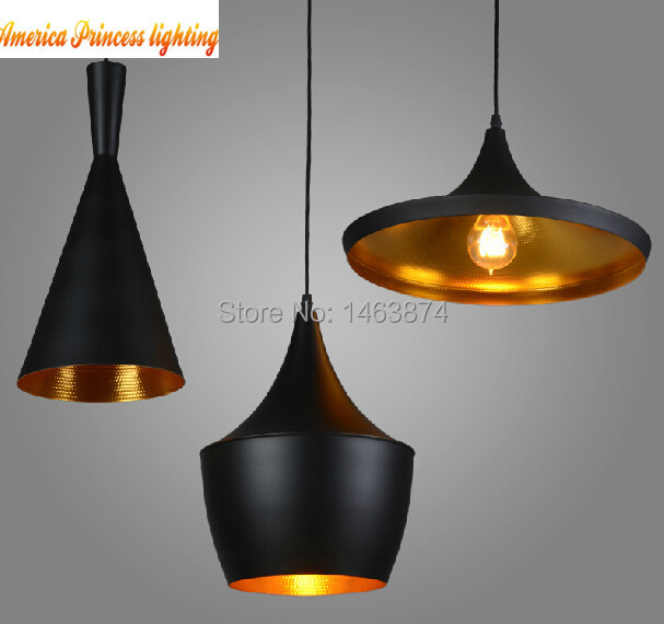 Copper shade Chandelier Lights design Pendant Lamp Beat Light ABC Tall Fat and Wide 3PCS lot