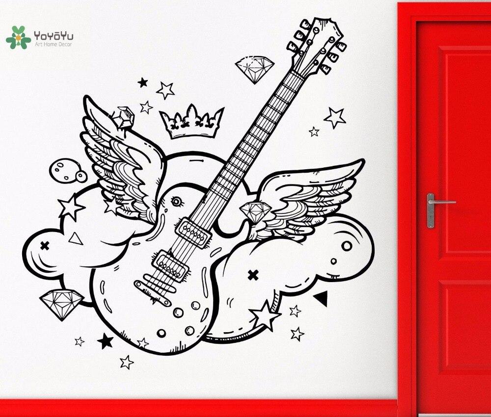 Wall Stickers Home & Garden Yoyoyu Vinyl Wall Decal Pop Music Wings Diamond Star Cloud Cook Kids Room Art Home Decoration Stickers Fd553 Long Performance Life