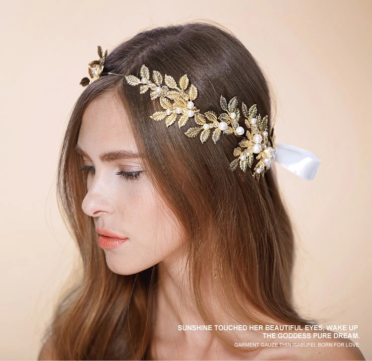 Gold Fascinator Real Image 2016 Cheap Modest Vintage Pearls Fashion Wedding Hair Accessories In Stock Bridal Headwear From Weddings Events