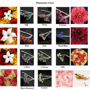 Rhinestone Picks Wedding Prom Bride Bouquet Decorations Beautry Corsage Accessories Rhinestone Picks Free DHL