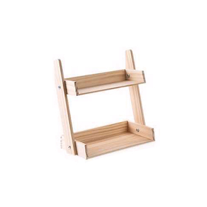 Image 5 - Multi layer Kitchen Condiment  Rack Wooden Large Capacity Multifunction Durable Storage Countertop Stand Herbs Jars Home