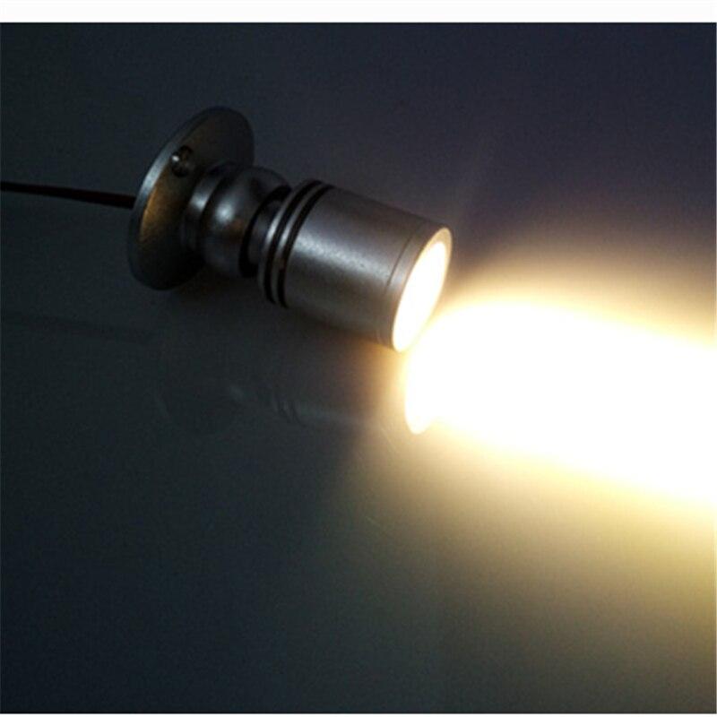 Ausstellung Box Buy One Give One Analytisch 85-265vac Eingang Mini 1 Watt Farbe Decke Schrank Led Spot Lampe Gold Kommerziellen Display Licht Für Uhr Schmuck
