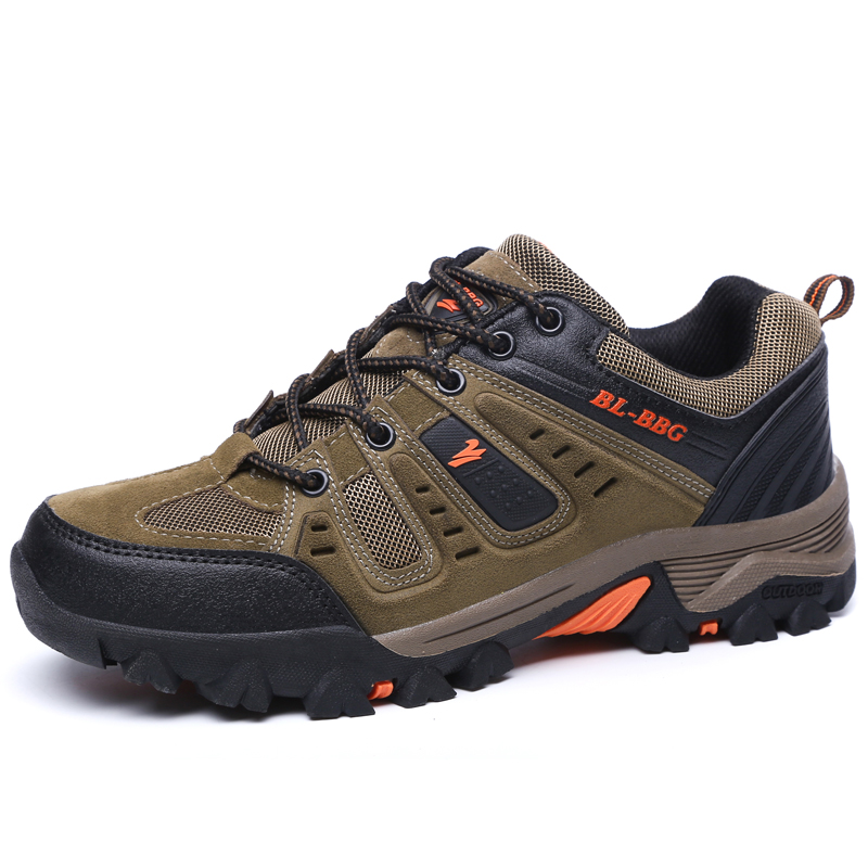 2017 New Mens Outdoor Climbing Shoes Autumn Winter Mountain Walking Sneakers Leather Mens Trekking font b