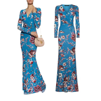 new fashion 2018 luxury designer maxi dress for women long sleeve purple stretch silk jersey span