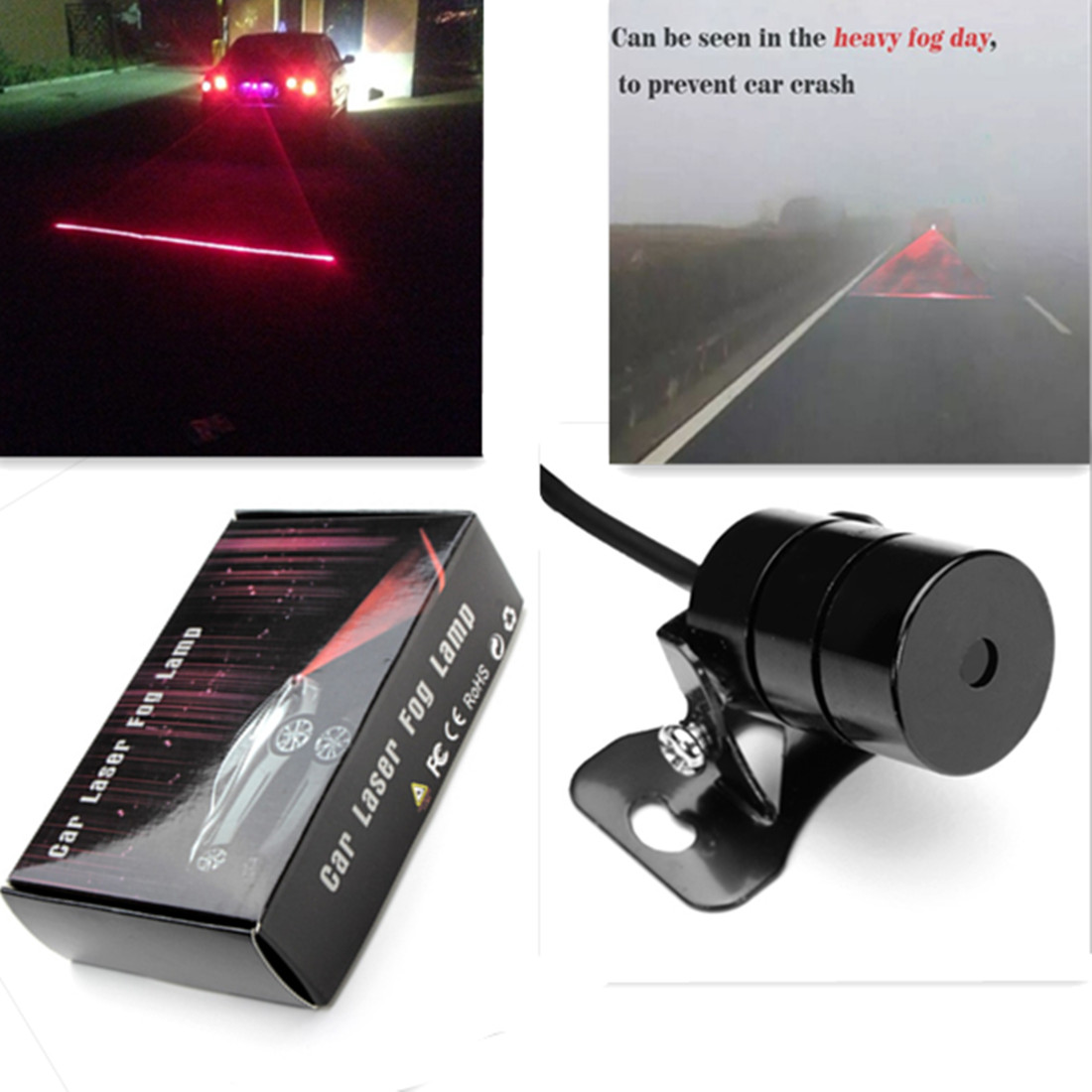 Car Universal Alarm Laser Fog Light Rear Anti-Collision Taillight Warning Lamp for chevy chevrolet lacetti matiz automotive anti rear fog light vehicle collision warning safety laser fog lights