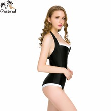 Queenral one piece swimwear bra monokini Backless Sexy biquini Beach Trikini Beach bathing suits one piece Swimsuit Female