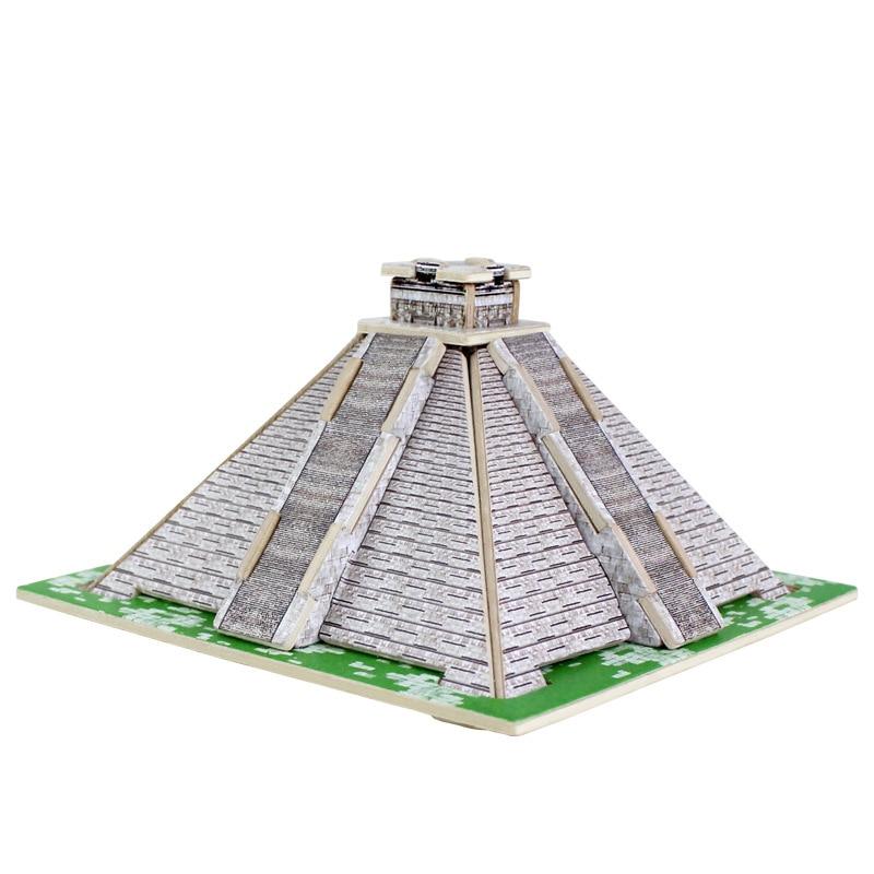 3D Ξύλινα παζλ Κυβικά ξύλινα παζλ Οικοδομικά τετράγωνα του κόσμου Κατασκευές Παιδικά Εκπαιδευτικά παιχνίδια Παιχνίδια Αιγυπτιακές πυραμίδες