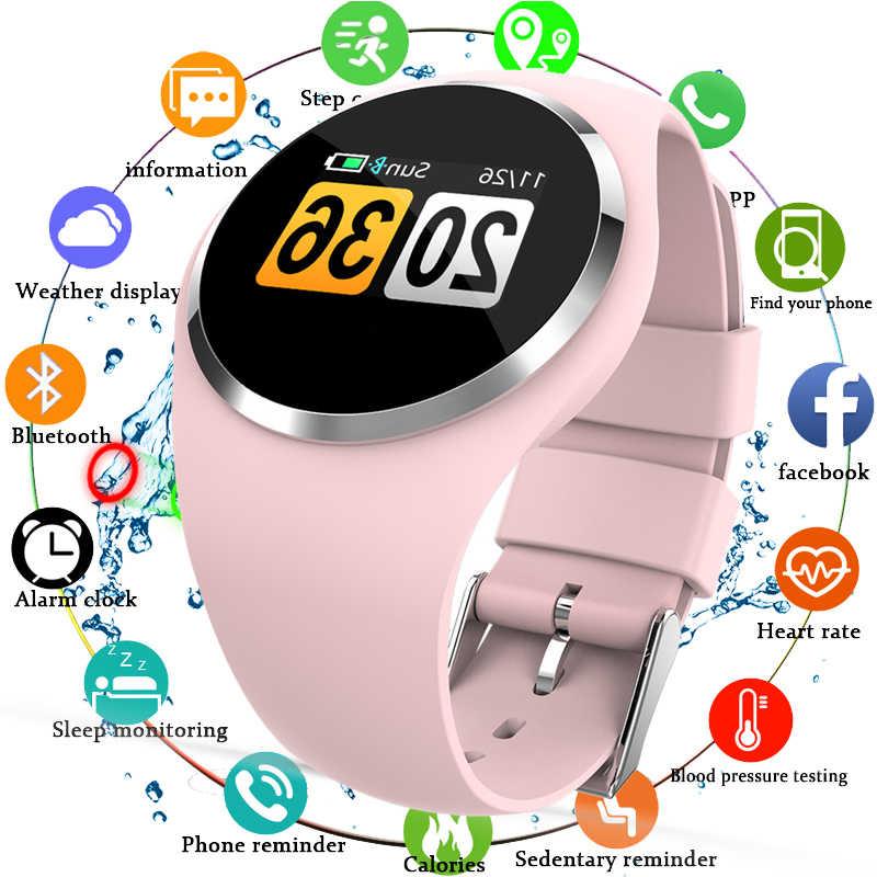 029e46d60b3e Pulsera reloj inteligente mujer Monitor de ritmo cardíaco presión arterial  Bluetooth correr podómetro táctil inteligente reloj