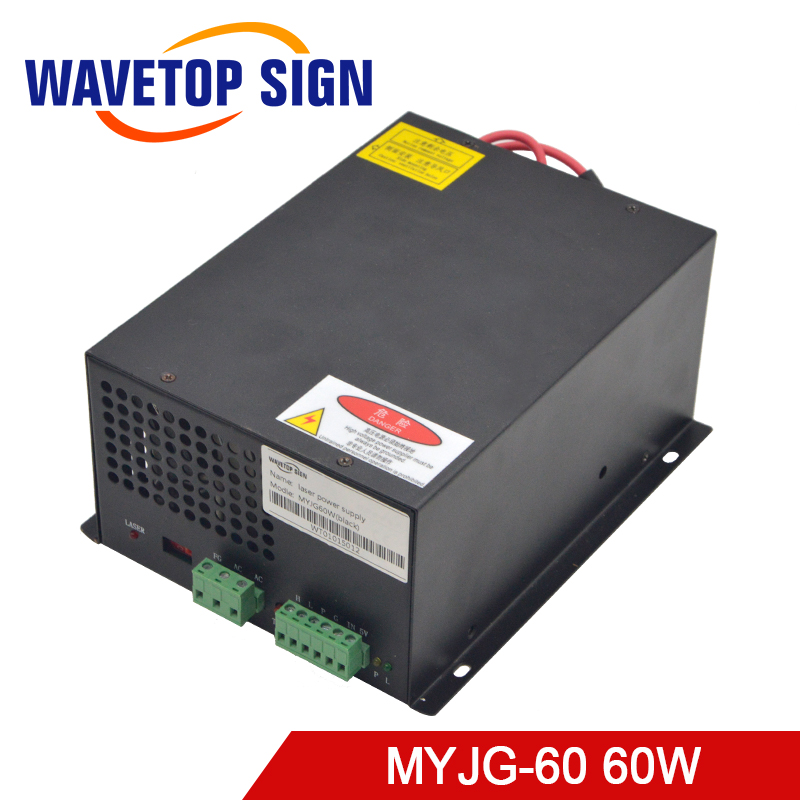 60W CO2 Laser Power Supply for CO2 Laser Engraving Cutting Machine MYJG-60W laser co2 use for laser cutter engraving machine сумка leo ventoni leo ventoni le683bmyql30