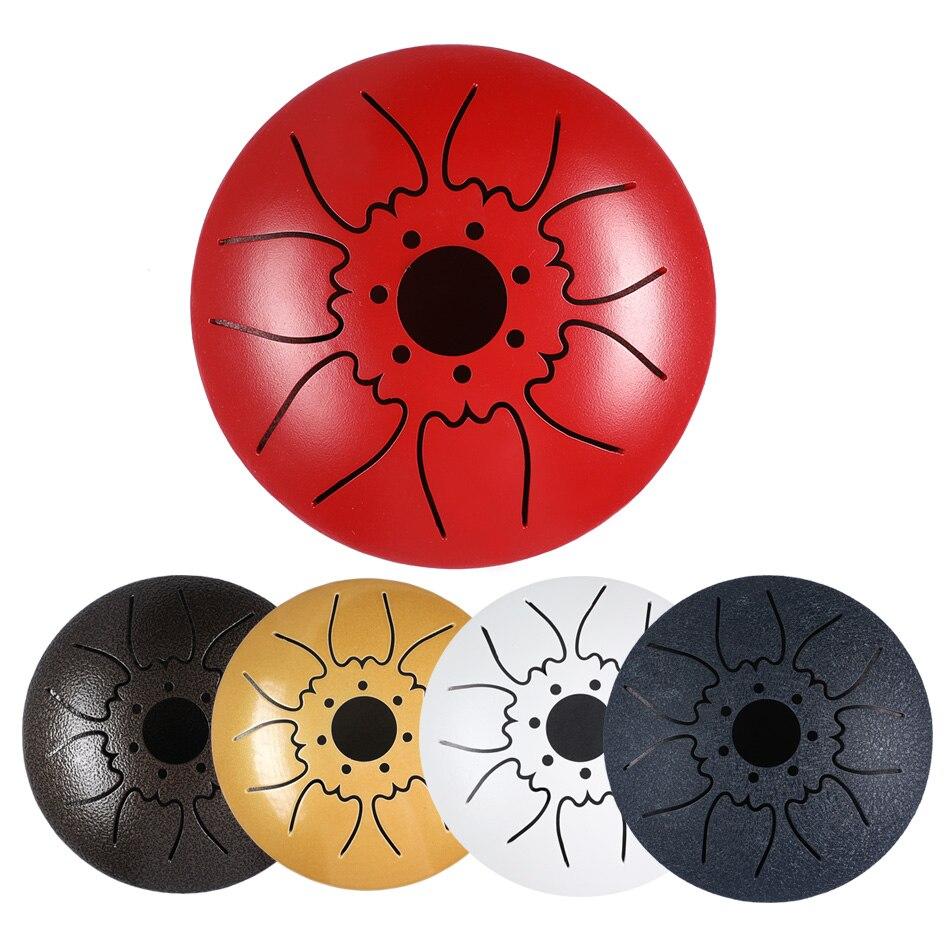 Mini tambor de la lengua de acero de 7 tonos tambor de la lengua de 5 pulgadas C tambor de la bandeja de la llave con el tambor bolsa